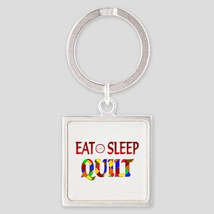 Eat Sleep Quilt Square Keychain