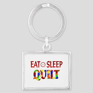 Eat Sleep Quilt Landscape Keychain