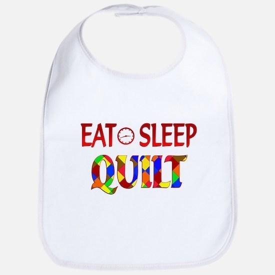 Eat Sleep Quilt Bib