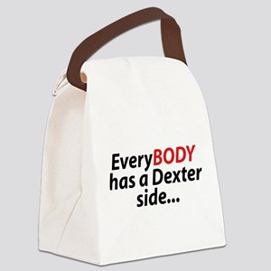 EveryBody Has A Dexter Side... Canvas Lunch Bag