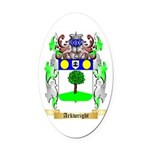 Arkwright Oval Car Magnet