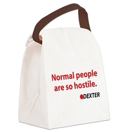 Normal people are so hostile Canvas Lunch Bag
