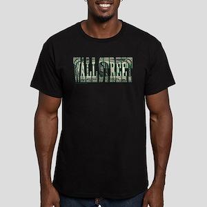 Wall Street Men's Fitted T-Shirt (dark)
