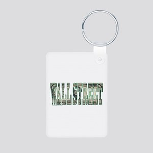 Wall Street Aluminum Photo Keychain