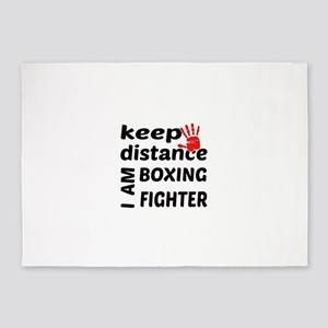 Keep distance I am Boxing fighter 5'x7'Area Rug