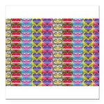 Shiny Hearts Pattern Square Car Magnet 3
