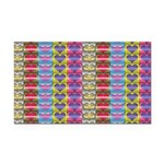Shiny Hearts Pattern Rectangle Car Magnet