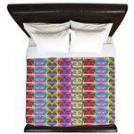 Shiny Hearts Pattern King Duvet