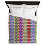 Shiny Hearts Pattern Queen Duvet