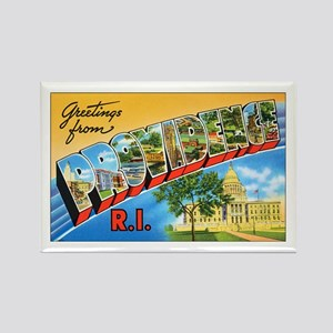 Providence Rhode Island Greetings Rectangle Magnet