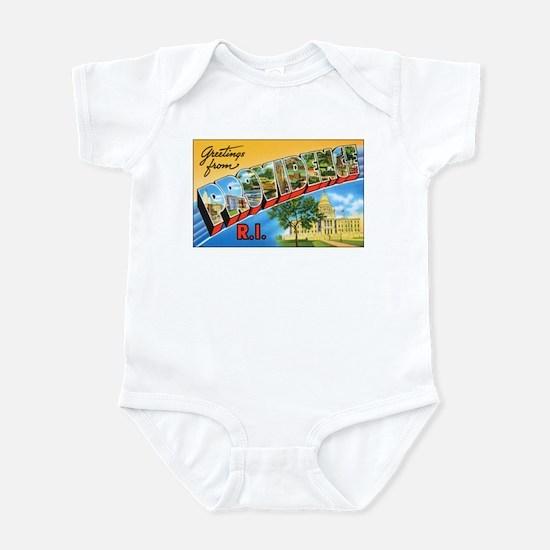 Providence Rhode Island Greetings Infant Bodysuit