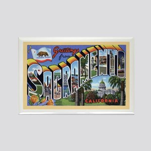 Sacramento California Greetings Rectangle Magnet