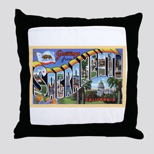 Sacramento California Greetings Throw Pillow