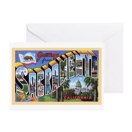 Sacramento California Greetings Greeting Cards (Pa