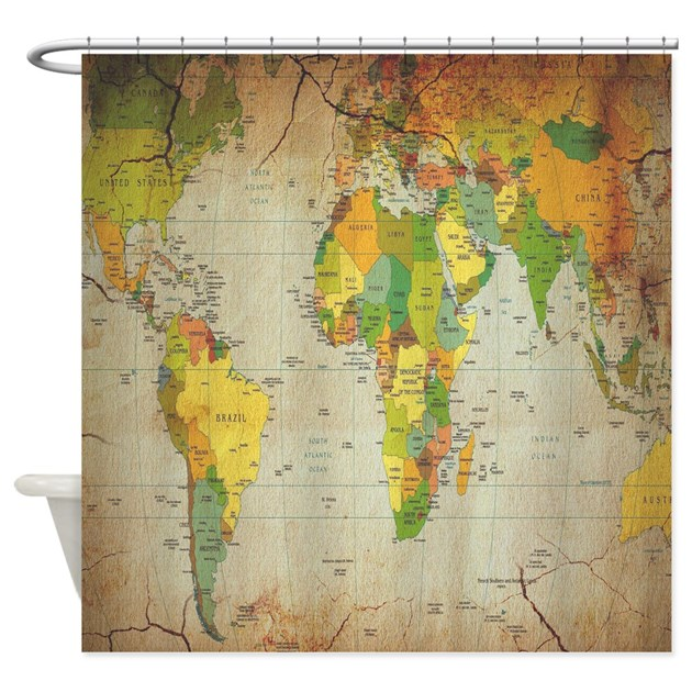 map shower curtain vintage world map shower curtain by showercurtainboutique 13310