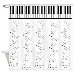 Keyboard Shower Curtain