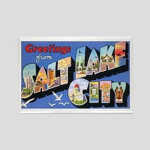 Salt Lake City Utah Greetings Rectangle Magnet