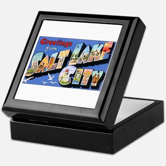 Salt Lake City Utah Greetings Keepsake Box