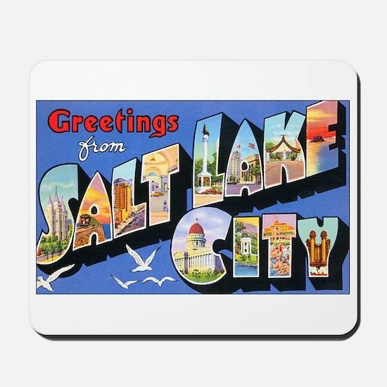 Salt Lake City Utah Greetings Mousepad