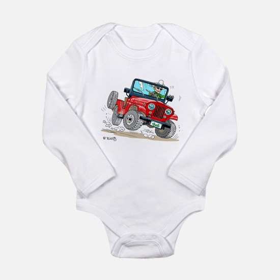 Willys-Kaiser CJ5 jeep Long Sleeve Infant Bodysuit