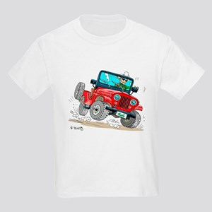 Willys-Kaiser CJ5 jeep Kids Light T-Shirt
