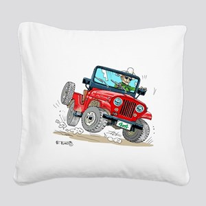 Willys-Kaiser CJ5 jeep Square Canvas Pillow