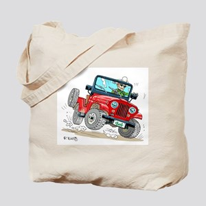 Willys-Kaiser CJ5 jeep Tote Bag