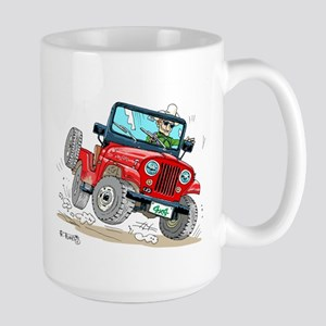 Willys-Kaiser CJ5 jeep Large Mug