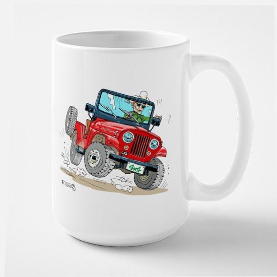 Willys-Kaiser CJ5 jeep Large Mug