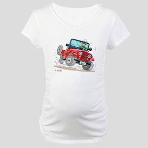 Willys-Kaiser CJ5 jeep Maternity T-Shirt