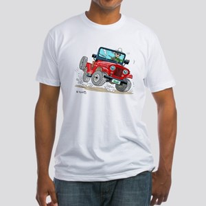 Willys-Kaiser CJ5 jeep Fitted T-Shirt