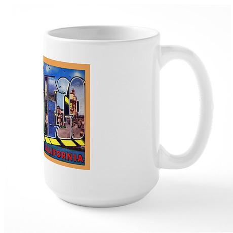 San Diego California Greetings Large Mug