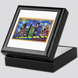 San Diego California Greetings Keepsake Box