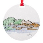 Ophelia In The Water Round Ornament