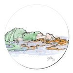 Ophelia In The Water Round Car Magnet
