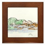 Ophelia In The Water Framed Tile