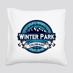 Winter Park Ice Square Canvas Pillow