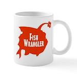Fish Wrangler Hate Fish Logo Mug
