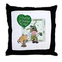 Happy St Throw Pillow