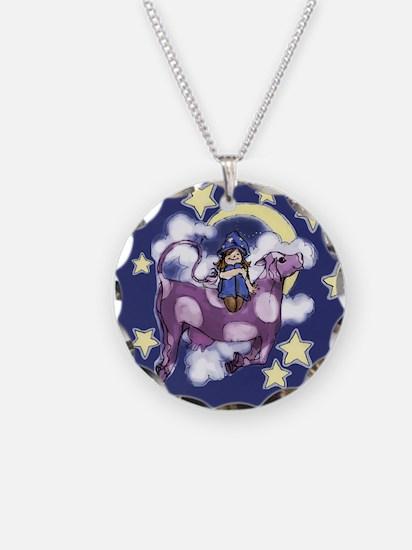 Purple Cow Necklace