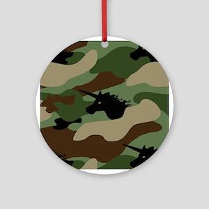 Unicorn Camouflauge Ornament (Round)