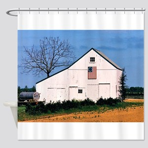 American Barns No. 2 Shower Curtain