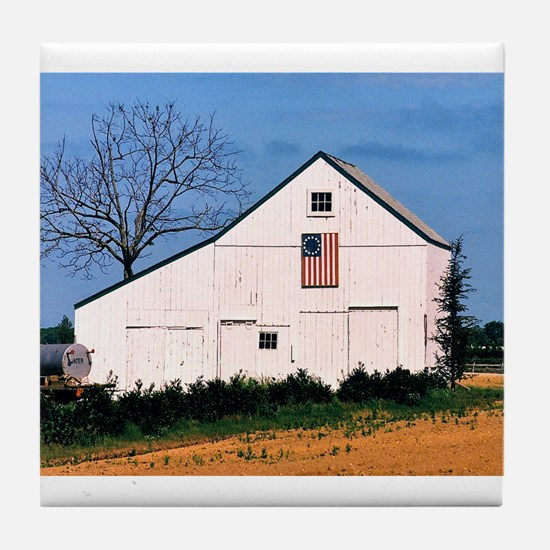 American Barns No. 2 Tile Coaster