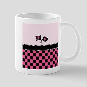 Girly Checkered Racing Flags Mug