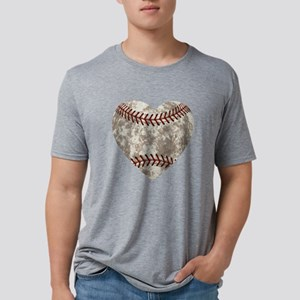 Baseball Vintage Distressed Mens Tri-blend T-Shirt