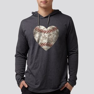 Baseball Vintage Distressed Mens Hooded Shirt
