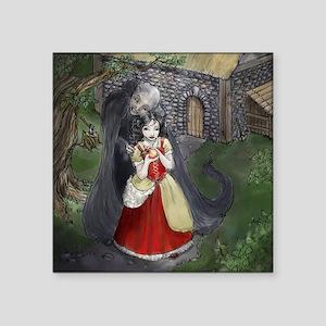 "Snow White Square Sticker 3"" x 3"""