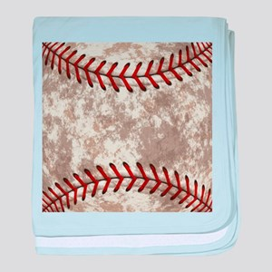 Baseball Vintage Distressed baby blanket