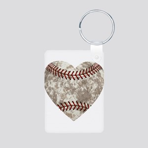 Baseball Vintage Distresse Aluminum Photo Keychain