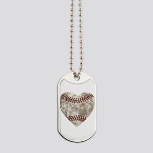 Baseball Vintage Distressed Dog Tags